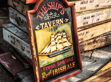 The Ships Tavern sign
